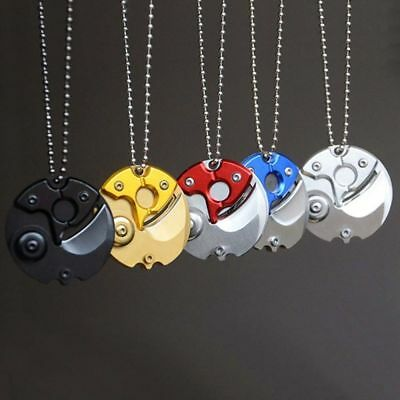 Various Mini Coin EDC Keyring Keychain Necklace Steel Neck Claw Folding Knife