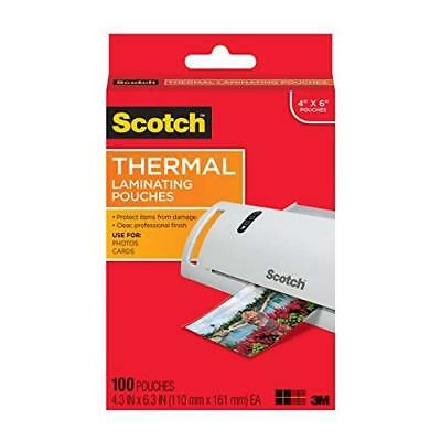 Scotch Thermal Laminating Pouches, 4.3 Inches x 6.3 Inches, 100 Pouches (TP5900-
