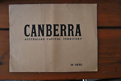 Souvenir booklet Thirty Nine Magnificent View Illustrating Canberra ACT 1930's