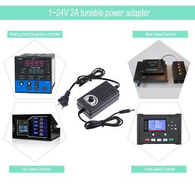 AC to DC Adapter 3-24V 2A Adjustable Volt Power Supply Motor Speed Controller