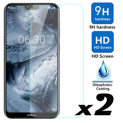 2 Pack 9H Premium HD Tempered Glass Film Screen Protector Saver For Nokia X6
