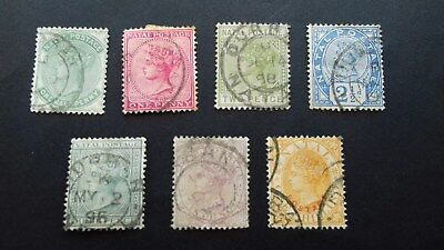 Stamps Natal  Queen Victoria Various Used
