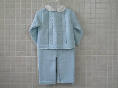 PEX Baby Boy Knitted Spanish Romany Style Suit set Blue 6-9m 9-12m 12-18m 18-24m