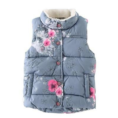 Cotton Warm Girls Vest Floral Baby Girls Waistcoat Thick Toddler Kids Vests