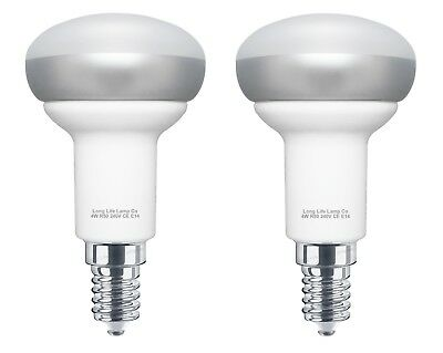 2 x 4W R50 LED E14 Ceramic Replacement for Reflector R50 Light Bulbs Warm White