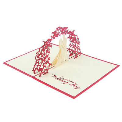 3D Pop Up Cards Valentine Lover Happy Birthday Anniversary Greeting Card New
