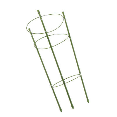 3 Plant Support Ring Plastic Construction Flower Growing Climbing Stick 60cm