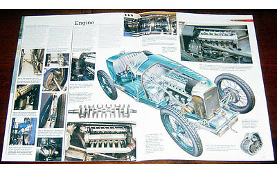 Amilcar C6 Fold-out Poster + Cutaway drawing
