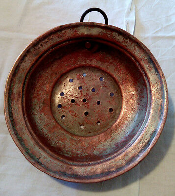 Plato con agujeros de Cobre Antiguo - Antique Copper Dish with holes - Vintage