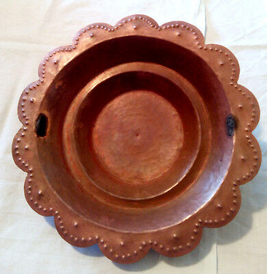 Plato de Cobre Antiguo - Antique Copper Dish - Vintage