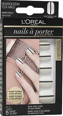 6x L'oreal Faux Ongles Nails à Porter By Color Riche - 003 Tuxedo Chic