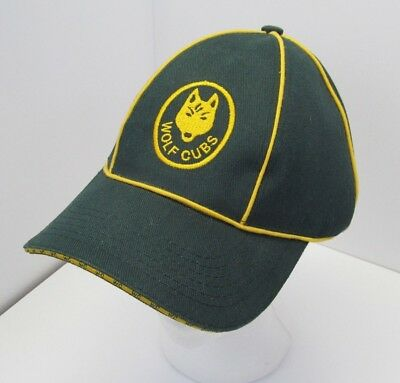 100th Anniversary Canadian Boy Scouts Wolf Cub Green Gold Beanie Hat Cap RARE
