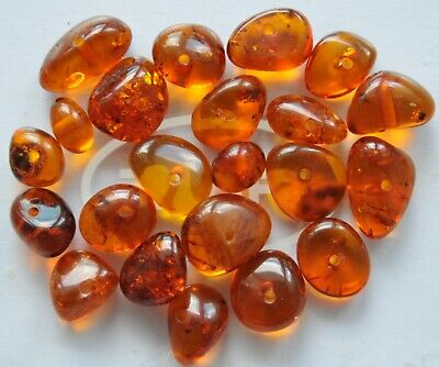 20gr ORIGINAL RUSSIAN USSR BALTIC AMBER GOLD NATURAL BEADS GEMSTONES 老琥珀 JEWELRY