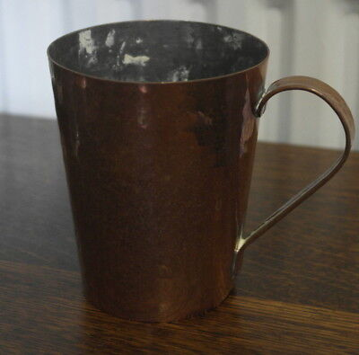 antique copper hand beaten TANKARD