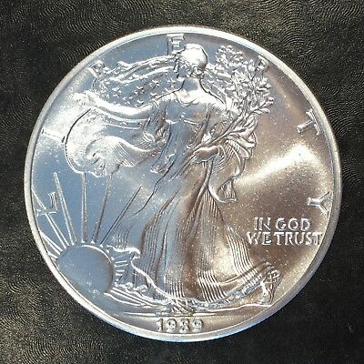1989 Uncirculated American Silver Eagle US Mint Issue 1oz Pure Silver #G062