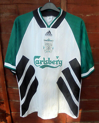 5715b744c90 44-46 Liverpool England 1993 1994 Away Football Shirt Jersey Adidas Adult