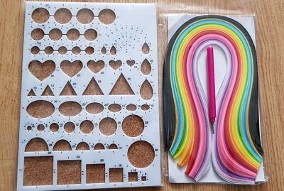 Quilling Paper Starter Set ~ Slotted Tool ~ Cork Board ~ Quilling Paper Strips