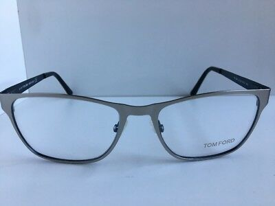 79069a551f New Tom Ford TF 5242 TF5242 020 55mm Silver Rectangular Eyeglasses Frame  Italy