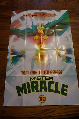 RARE 2017 Promo Poster DC 36x24 MISTER MIRACLE TOM KING & MITCH GERADS UNUSED