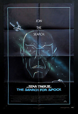 STAR TREK III THE SEARCH FOR SPOCK original one sheet movie poster 1984