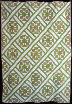 Antique Pink and Green Quilt