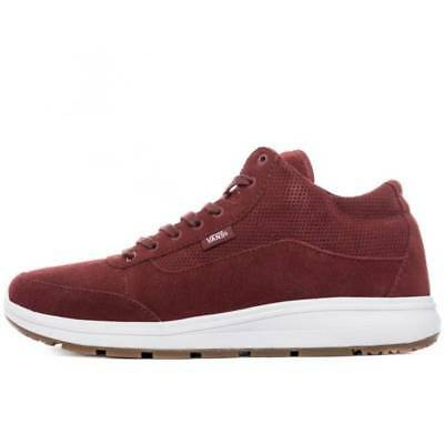 4288bb28a6a5 Vans Style 201 Perf Madder Brown White Maroon Men s 13 Skate Sneakers Shoes