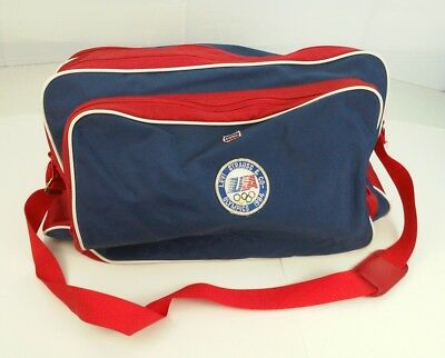 Vintage Levi's Strauss 1984 USA Olympics Large Duffel Gym Bag Red Blue USA