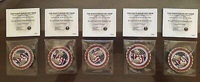 Trump - Kim LOT of (5) Summit Commemorative Coins, AUTHENTIC with Certificates