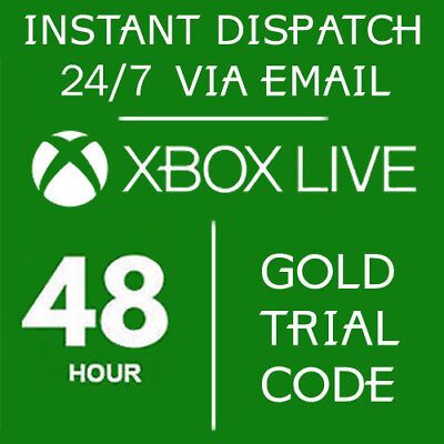 Xbox Live 48 Hour 2 Days Gold Trial Code 48Hr 2 Day- Instant Dispatch