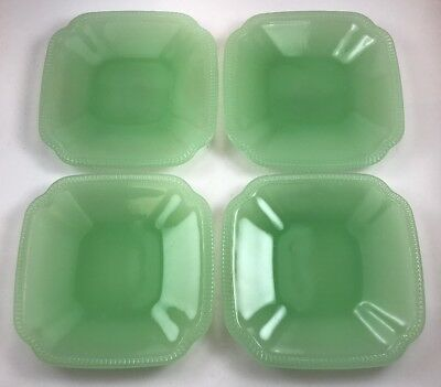 Hearth and Hand Magnolia Green Jadeite Glass Appetizer Plate Rustic Lot of 4