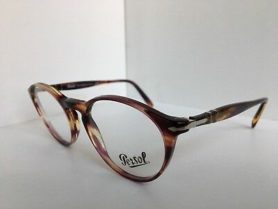 0fcaa16aa7857 NEW PERSOL 3092-V 1055 50mm Rx Round Violet Havana Eyeglasses Italy ...