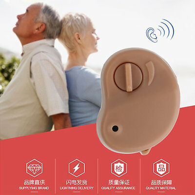 New Hearing Aid Personal Sound Amplifier In the Ear Tone Volume Adjustable (a