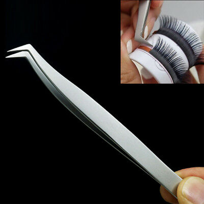 New Stainless Steel Extension Lashes Tweezers Tool for 3D 6D Volume Mink Eyelash