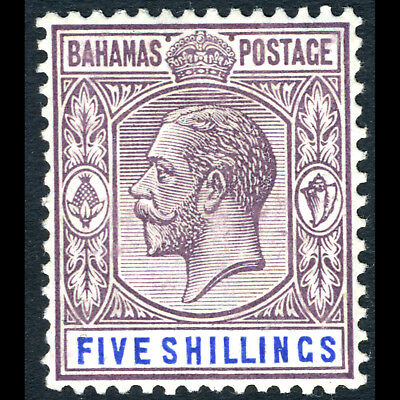 BAHAMAS 1912-19 5s Dull Purple & Blue. SG 88. Lightly Hinged Mint. (BH471)