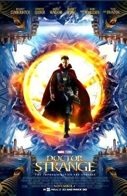 MARVEL AVENGERS Doctor Strange Original 27x40 Double Sided Movie Theater Poster
