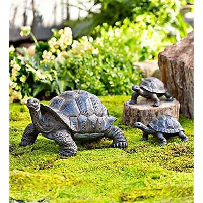 Plow & Deck And Patio Accents Hearth 53562 Tortoise Family Resin Outdoor Garden