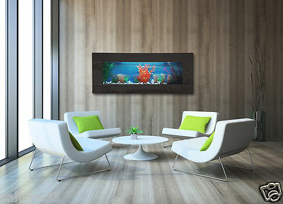Black Mirror Framed Fish Tank,Wall Mounted Slim Panoramic Wall Aquarium BEDROOM