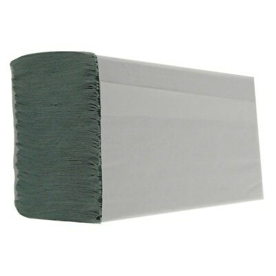 1 Ply Green M-Fold Paper Hand Towels - Pack of 3000 By Leonardo
