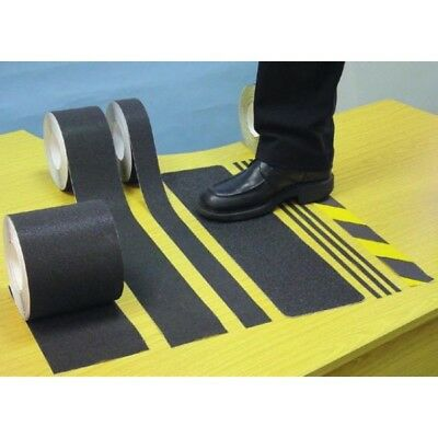 Anti-Slip Tape - Black & Yellow - 18m x 50mm By Signs & Labels