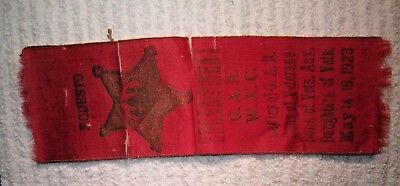 ENCAMPMENT G.A.R., W.R.C., Ladies of G.A.R. Sons, Daughters of Vets. RIBBON 1932