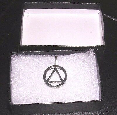 New AA Alcoholics Anonymous silver charm jewelry --GIFT BOX INCLUDED