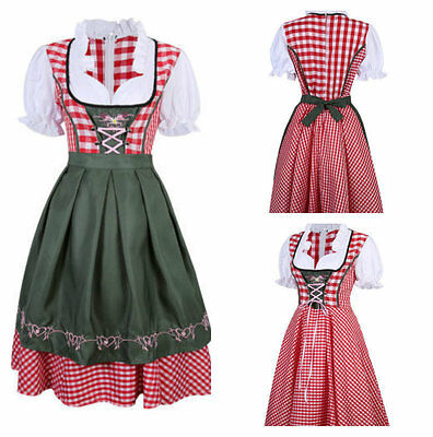 Oktoberfest Ladies Beer Maid Wench German Bavarian Heidi Fancy Dress Costume