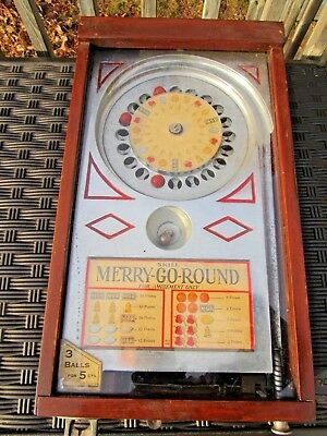 ORIGINAL 1933 A.B.T. MFG. CO. 1cent MERRY-GO-ROUND ROULETTE TRADE STIMULATOR