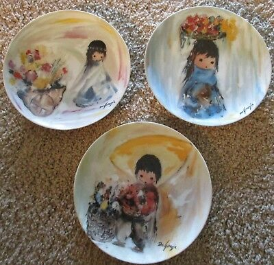 Ted DeGrazia Native Children of the Sun Set of 3 Porcelain Collector Plates 1988