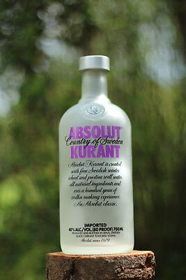 Absolut Vodka Kurant -neues Design-  Flasche leer 700ml