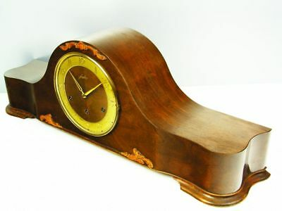 Great Beautiful Art Deco Westminster Chiming Mantel Clock From Junghans
