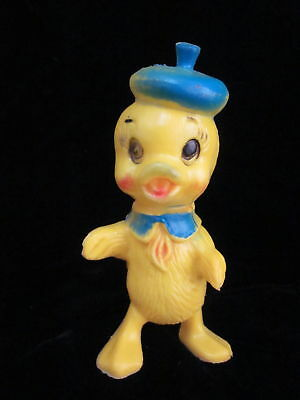 Vintage Easter DUCK Duckling Chick Plastic Figure Decoration Hong Kong