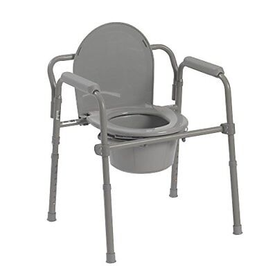 HQ Raised Over Toilet Seat Chair Medical Steel Folding Bedside Potty Commode New