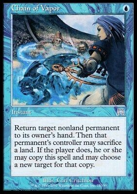 Chain of Vapor ~ Onslaught ~ NearMint/Excellent+ ~ Magic The Gathering