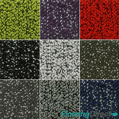 Solution Dyed Polyamide Loop Carpet Tiles 5m2 Box -  Office Commercial Flooring